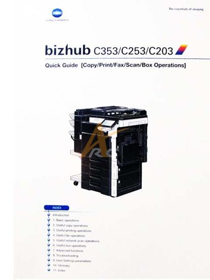 konica minolta c353 user manual